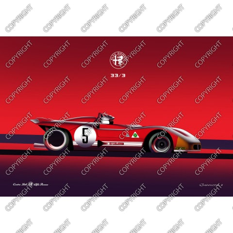 Alfa Romeo 33/3 - vista laterale
