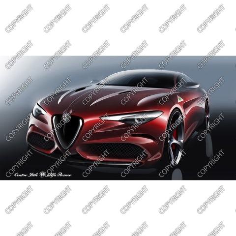 Emotional sketch Alfa Romeo Giulia