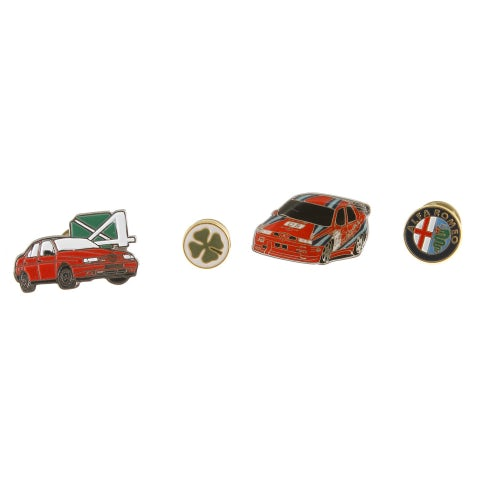 HISTORICAL GOLD METAL ALFA ROMEO 155 PIN PACK