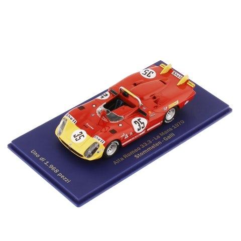 CAR MODEL ALFA ROMEO 33.3 SPYDER LE MANS 1970 STOMMELEN (1:43 SCALE)