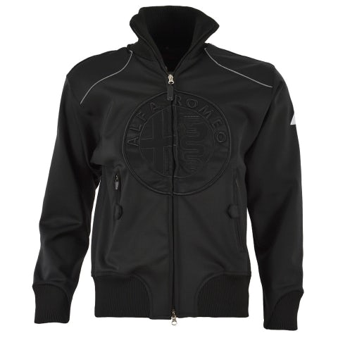 ALFA ROMEO MEN'S BLACK TECHNICAL SWEATSHIRT