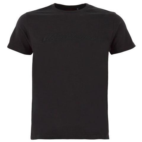 Men's black s-sleeved T-shirt