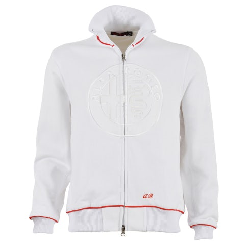 ALFA ROMEO MEN'S WHITE SWEATSHIRT