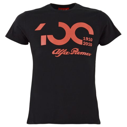 100TH ANNIVERSARY MEN'S BLACK/RED S-SLEEVED T-SHIRT