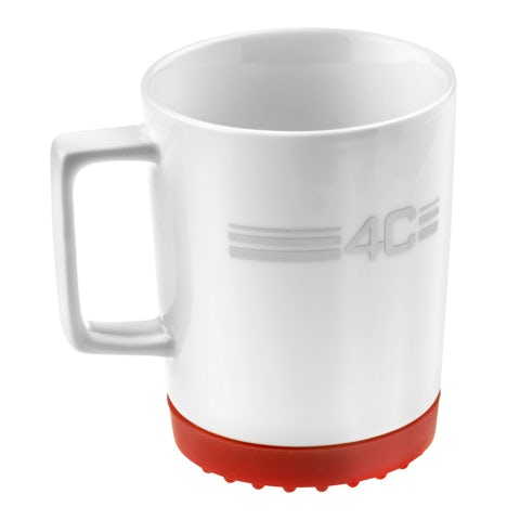 MUG 4C IN PORCELLANA CON FONDO IN SILICONE