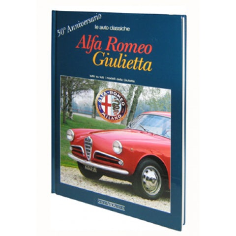 BOOK ALFA GIULIETTA 50TH ANNIVERSARY ( ITALIAN TEXT )