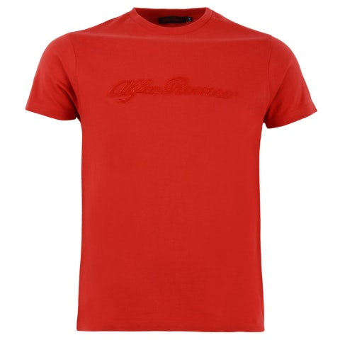 ALFA ROMEO MEN'S RED S-SLEEVED T-SHIRT