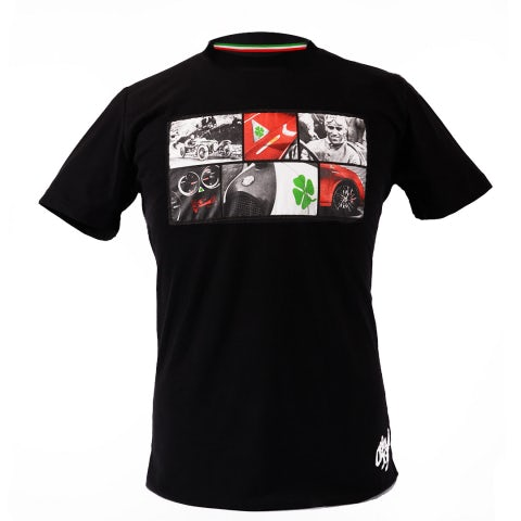 QUADRIFOGLIO VERDE BLACK A.R. UNISEX SHORT-SLEEVED T-SHIRT