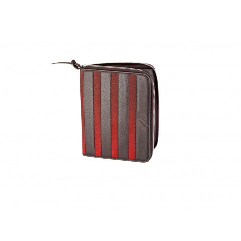 HERITAGE DARK BROWN CALFSKIN LEATHER DOCUMENT HOLDER