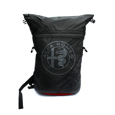 BLACK POLYAMIDE WATERPROOF N. A.R. LOGO BACKPACK