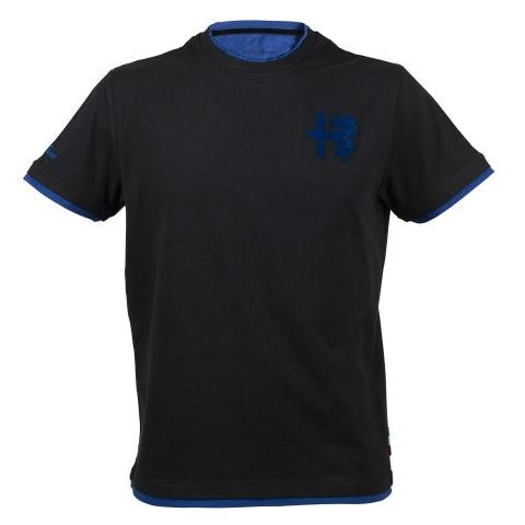 T-SHIRT BLACK BLUE - A.R.