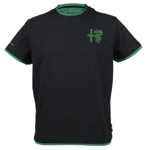 T-SHIRT BLACK GREEN - A.R.