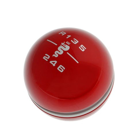 Gear Knob in Red Alfa Romeo