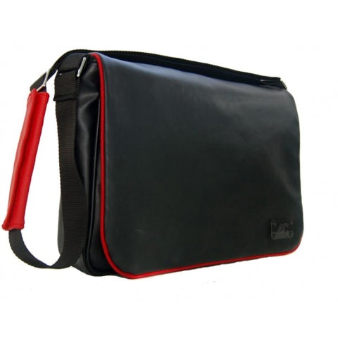BAG 4C, BLACK ECO-LEATHER