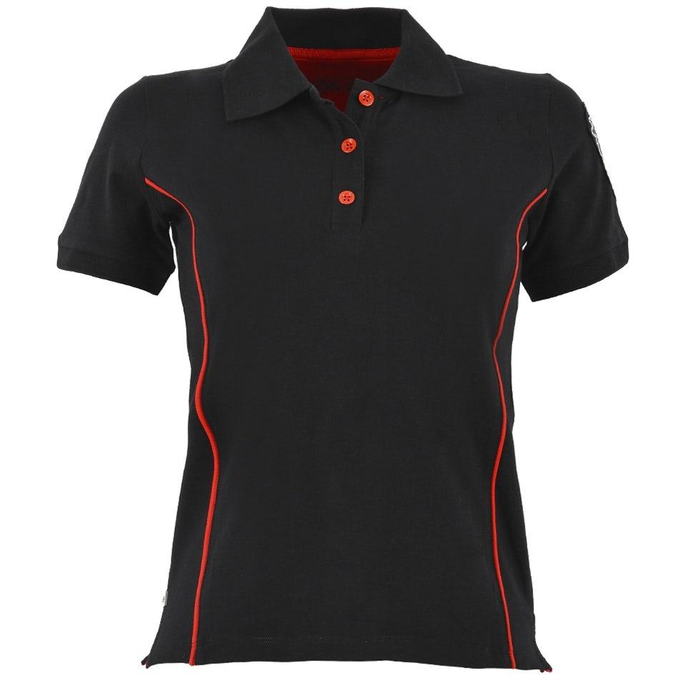 Women 39 S Black S Sleeved Pique Polo Shirt