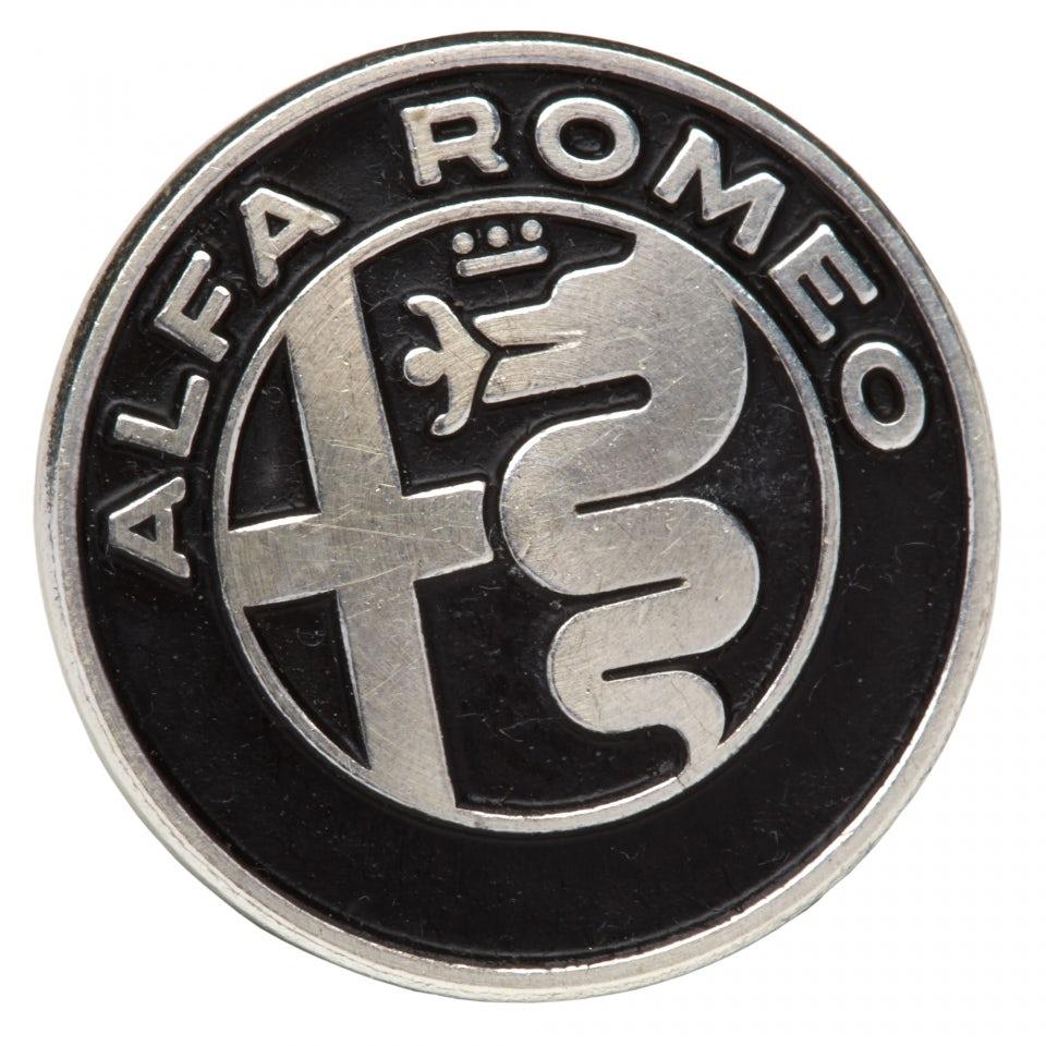 Aluminium New Alfa Romeo Logo Badge Lifestyle