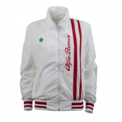 A.R. QUADRIFOGLIO VERDE WHITE UNISEX LIGHT JACKET