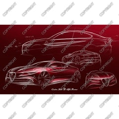 First sketch Alfa Romeo Giulia