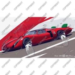 Alfa Romeo tipo 33 coda lunga - Daytona