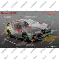 Tavola Tecnica di Alfa Romeo Giulia GTAm concept