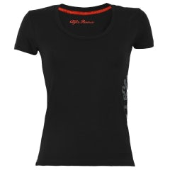 A.R. WOMEN'S BLACK S-SLEEVED T-SHIRT
