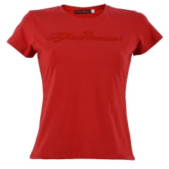 ALFA ROMEO WOMEN'S RED S-SLEEVED T-SHIRT