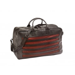 HERITAGE DARK BROWN CALFSKIN LEATHER BAG