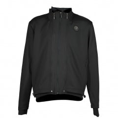 MEN'S BLACK TECHNICAL SWEATSHIRT/JACKET IN NYLON+SOFT