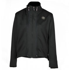 LADIES' BLACK SOFTSHELL TECHNICAL SWEATSHIRT/JACKET
