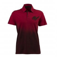 MEN'S S-SLEEVED HERITAGE SHADED RED JERSEY POLO SHIRT