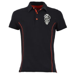 MEN'S BLACK S-SLEEVED PIQUE POLO SHIRT