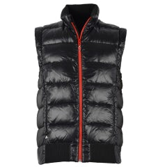 QUILTED GILET UNISEX BLACK