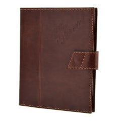 HERITAGE I-PAD HOLDER IN GENUINE DISTRESSED LEATHER