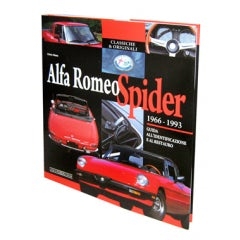 BOOK ALFA ROMEO SPIDER 1966-1993 GUIDE TO IDENTIFICATION AND RESTORATION ( ITALIAN EDITION )
