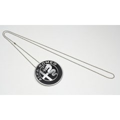 MEDALLION ALUMINUM NECKLACE WITH LOGO ALFA ROMEO