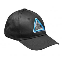 AUTODELTA BLACK BASEBALL CAP WITH DOUBLE EMBROIDERY