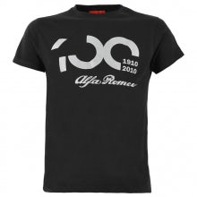 100TH ANNIVERSARY MEN'S BLACK/SILVER S-SLEEVED T-SHIRT