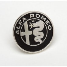 ALUMINIUM NEW ALFA ROMEO LOGO BADGE