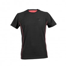 MEN'S S-SLEEVED BLACK ARIN COTTON T-SHIRT WITH ROUND LOGO PATCH