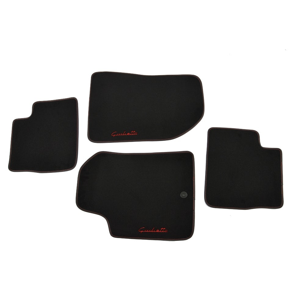 4 tapis de sol bordure rouge alfa romeo giulietta neuf oem. Black Bedroom Furniture Sets. Home Design Ideas